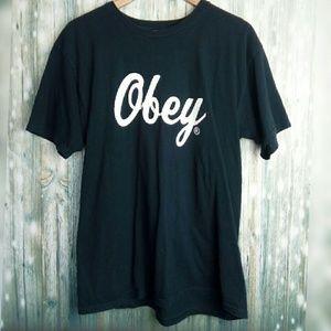Obey logo short sleeve t-shirt
